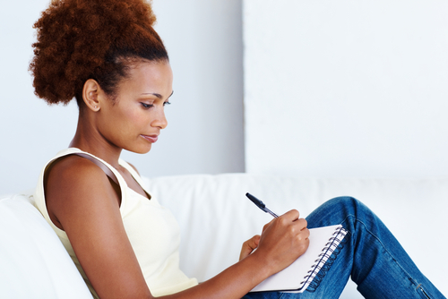 Writing in a journal to communicate and express yourself especially if you do not feel comfortable speaking to anyone about your feelings.