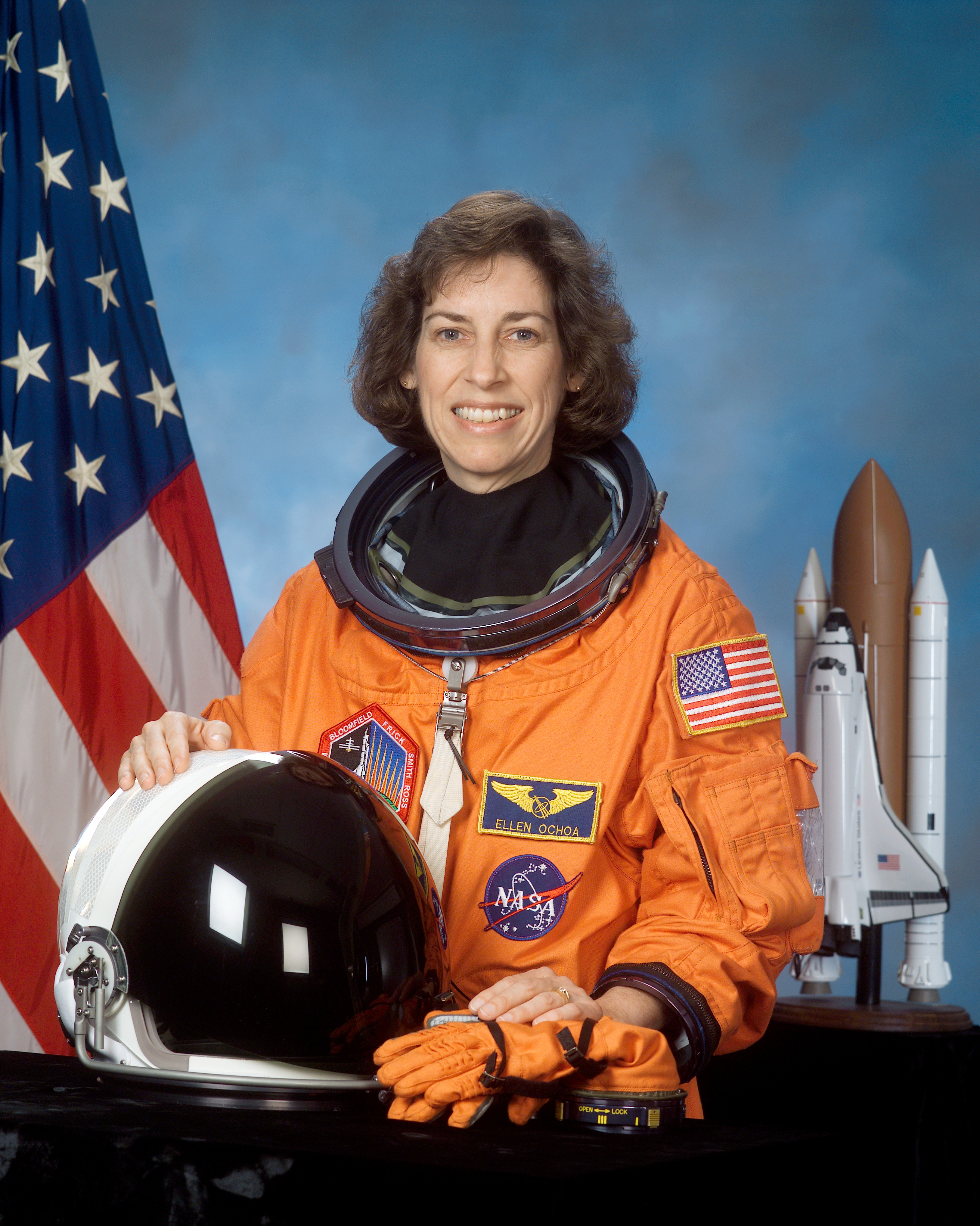 An engineer and veteran astronaut with four space flights under her belt, Ellen Ochoa is the current director of the Johnson Space Center. She became the world's first Hispanic female astronaut in 1991 and is currently the center's first Hispanic director. She has been recognized by NASA with its highest award, the Distinguished Service Medal, and the Presidential Distinguished Rank Award for senior executives in the federal government.