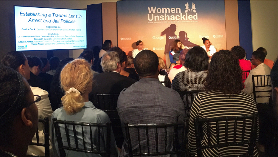 Panelists discuss how arrest and jail policies impact women and families