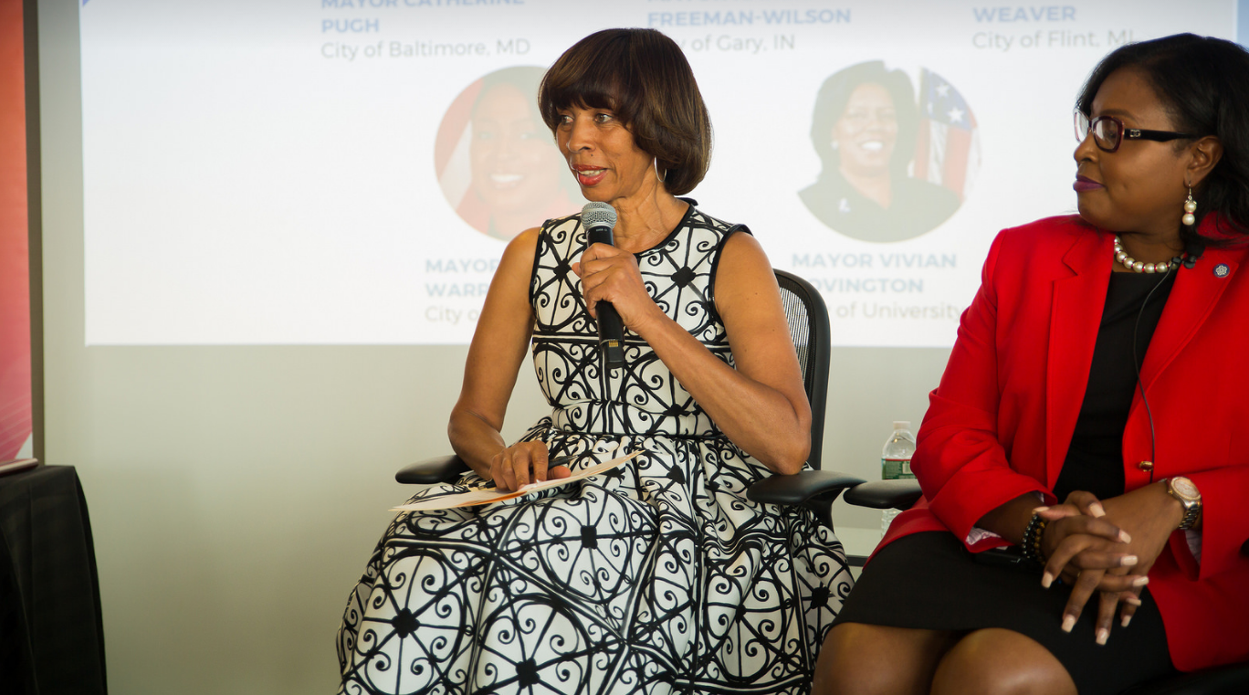Baltimore Mayor Catherine Pugh provides panel remarks
